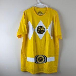 NWOT Yellow Power Ranger Graphic Tee